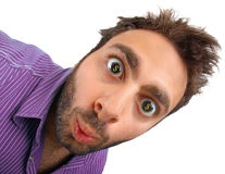 Wow expression with a dollar sign in the eyes Stock Images