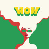 WOW expression illustration Stock Photography
