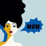 WOW expression illustration Stock Photos
