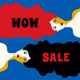 WOW expression illustration Stock Images