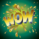 Wow illustration. The word Wow as an illustrated background Royalty Free Stock Image