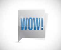 Wow message bubble illustration design Royalty Free Stock Photography