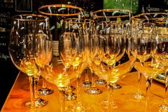 WOW! So nice wineglasses royalty free stock image