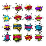 Pop art phrase comic text set Royalty Free Stock Images
