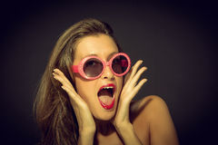 WOW Retro Style royalty free stock images