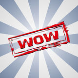 Wow rubber stamp Royalty Free Stock Photos
