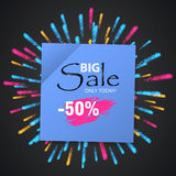 Wow Sale Special Offer banner. Sale poster. Stock Image