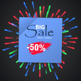 Wow Sale Special Offer banner. Sale poster. Royalty Free Stock Photos