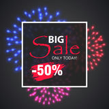 Wow Sale Special Offer banner. Sale poster. Stock Photography