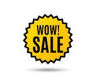 Wow Sale. Special offer price sign. Royalty Free Stock Photo