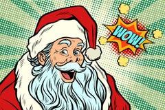Wow Santa Claus Pop art retro royalty free illustration