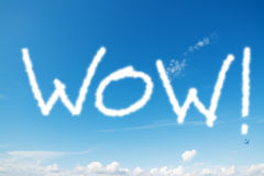 Wow in the sky Royalty Free Stock Photo