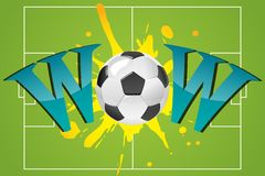 Wow with soccer ball Royalty Free Stock Images