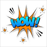 Wow sound effect illustration Royalty Free Stock Photo