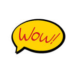 Wow speech bubble. Illustration on white background Royalty Free Stock Image