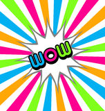 Wow stardust background royalty free illustration