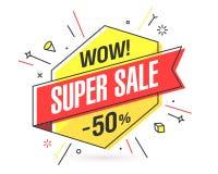 WOW! Superverkaufsfahne Lizenzfreies Stockbild