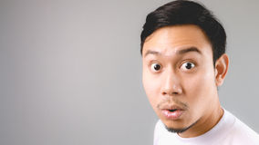 Wow, He is surprised to hear the news. Royalty Free Stock Image