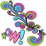 Wow Swirl Drawing Royalty Free Stock Images