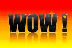 Wow text. Illustration of wow text on bright colorful background Stock Images