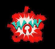 Wow text lettering vector Royalty Free Stock Image