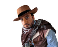 WOW Western. WOW gunman in the old wild west Stock Images