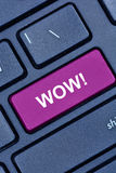 WOW word on computer keyboard Royalty Free Stock Photography