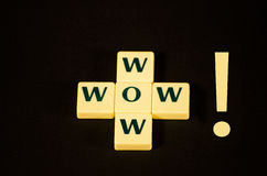 Wow!. Wow word made out of letter tiles Royalty Free Stock Photos