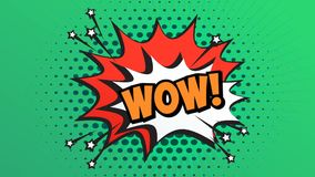 WOW Word Retro Cartoon Comic Bubbles Popup Style Expressions.