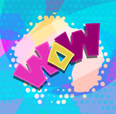 Wow word text blobs vector Royalty Free Stock Images