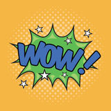 WOW! Wording Sound Effect. For comic speech bubble Royalty Free Stock Photo