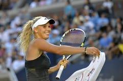 Wozniacki # 1 V.S. opent 2010 (67) Royalty-vrije Stock Fotografie