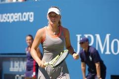 Wozniacki Caroline aux USA ouvrent 2008 (40) Photos stock