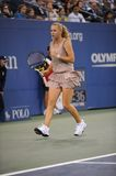 Wozniacki Caroline at US Open 2009 (21) Royalty Free Stock Photography