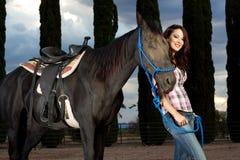 wpólnie koński roześmiany jeździec Obrazy Stock