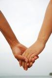 Wpólnie kochanek ręki Zdjęcie Royalty Free