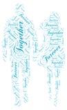 Wpólnie Na zawsze: Miłości słowa chmury etykietka Zdjęcie Royalty Free