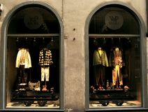 WP luxury fashion store in Italy Stock Photos