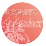 WP. Woman project emblem isolated on white background royalty free illustration