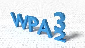 WPA3 standard is replacing WPA2 concept Royalty Free Stock Photography