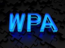 WPA (Wi-Fi被保护的通入) 免版税库存照片