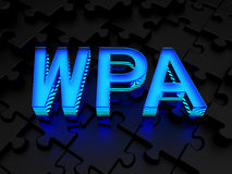 WPA (WiFi Beschermde Toegang) Royalty-vrije Stock Foto's
