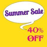 Wpisowa lato sprzedaż 40% daleko Fotografia Stock