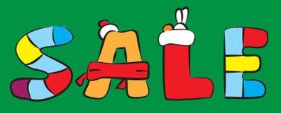 Wpisowa sprzedaż na zielonym tle doodle Fotografia Stock