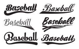 Wpisowy baseball z swooshes royalty ilustracja