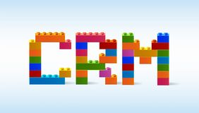 Wpisowy CRM od bloków konstruktor Obraz Stock