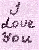 Wpisowy ` kocham ciebie ` Obrazy Royalty Free