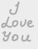 Wpisowy ` kocham ciebie ` Obrazy Stock
