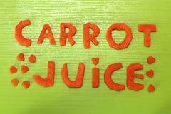 Wpisowy marchwiany sok od marchewek Obrazy Stock