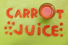 Wpisowy marchwiany sok od marchewek Obraz Stock